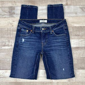 Levi's Altered 711 Distressed Skinny Jeans 25 X 30